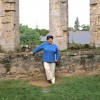 Me at the Abbaye de Beauport near Paimpol, Brittany